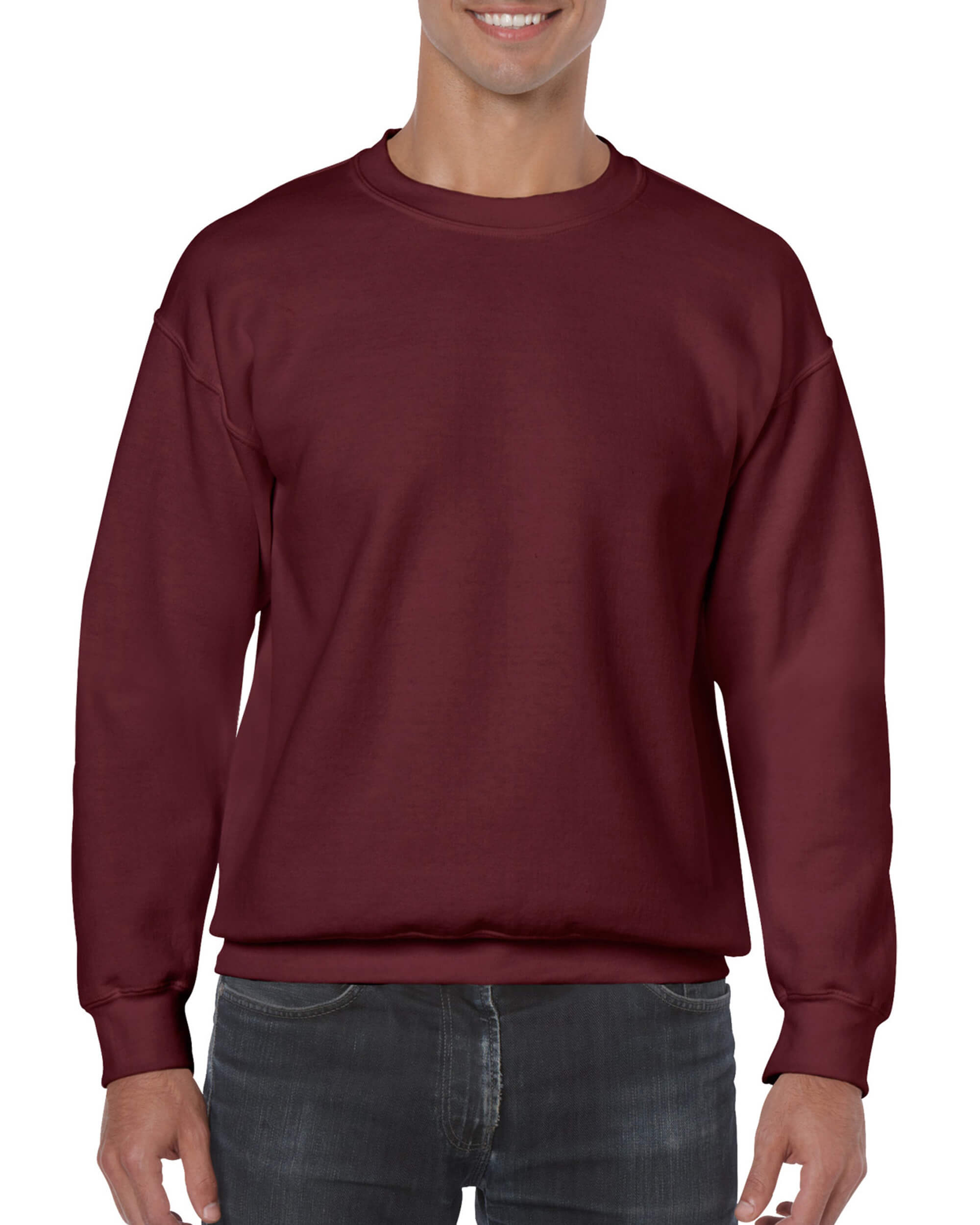 Maroon Crew Neck Sweater • T-Shirt Explosion 21718fb5d1d4